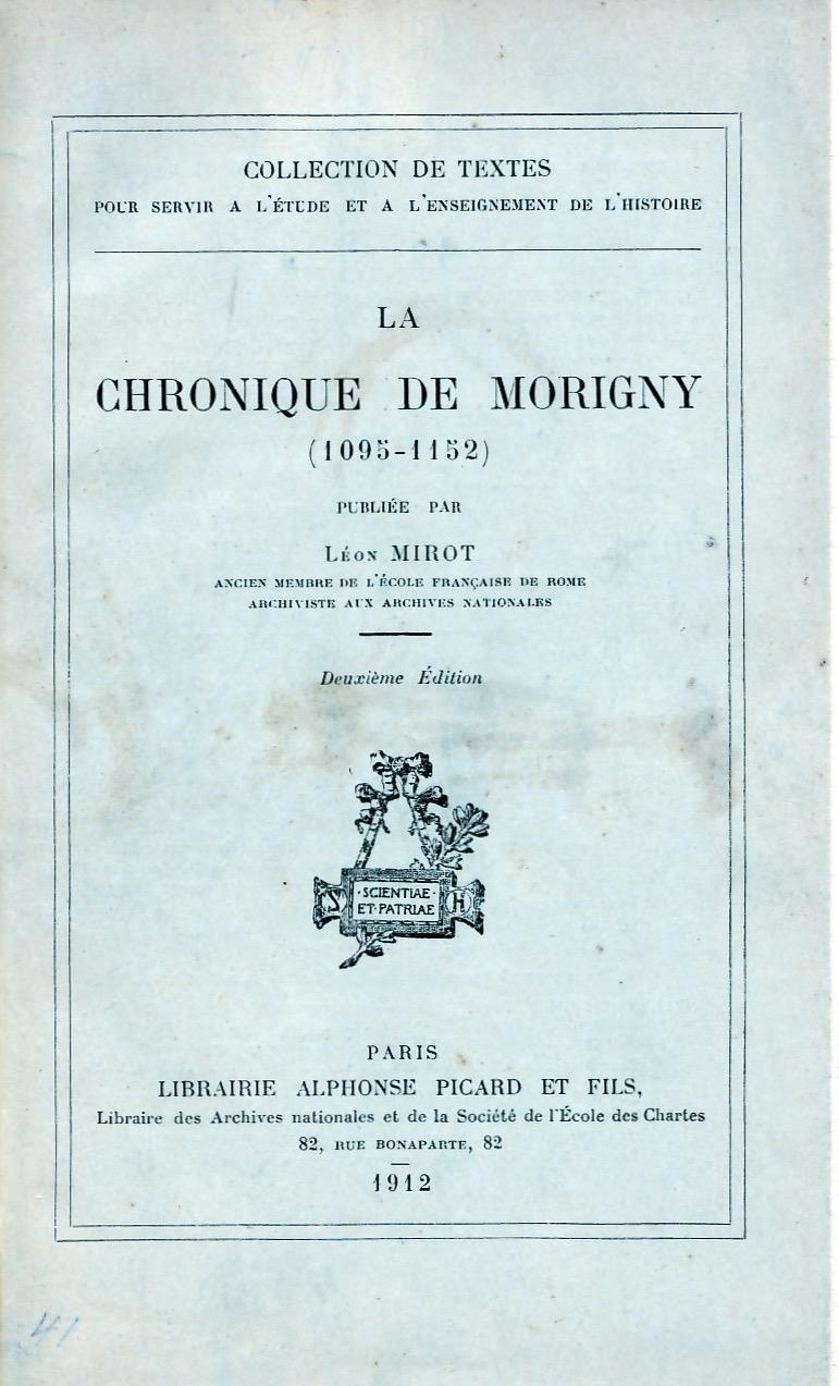 La chronique de Morigny.