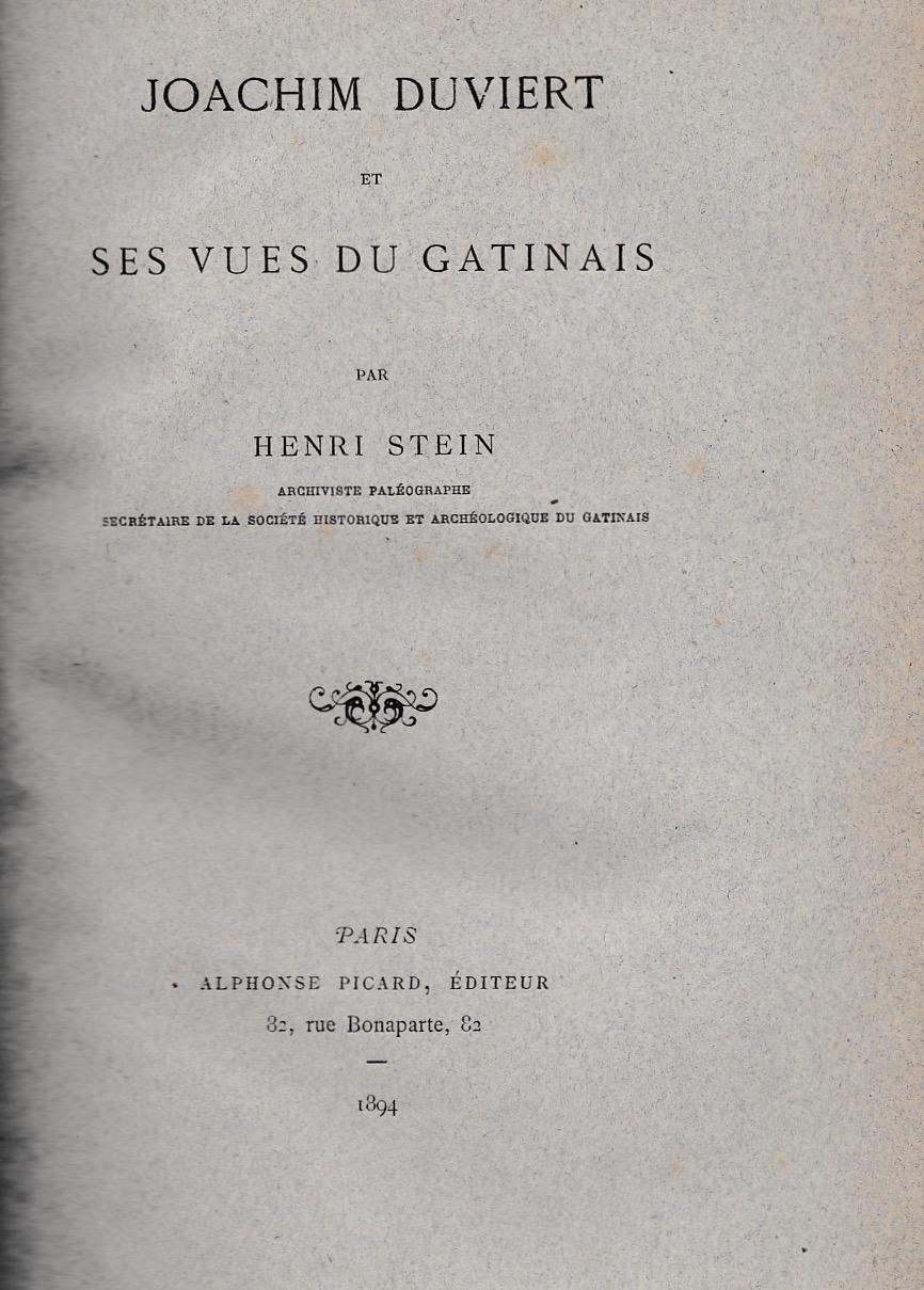 Joachim Duviert et ses vues du Gatinais