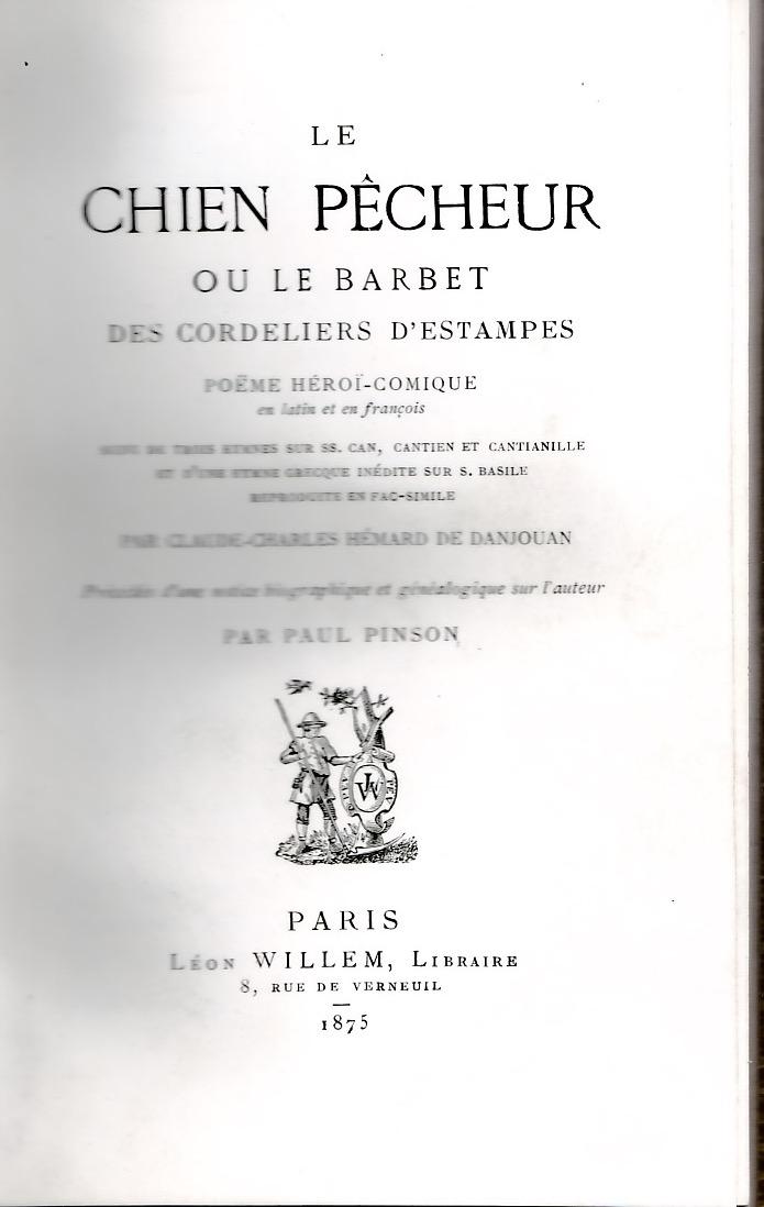 Le chien pêcheur ou le Barbet des Cordeliers d'Etampes .
