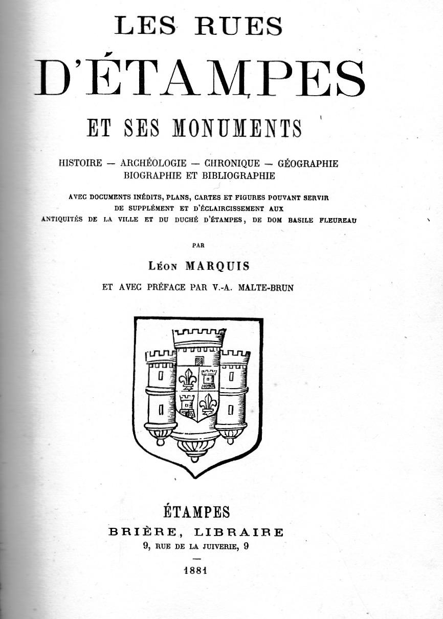 Les rues d'Etampes et ses monuments