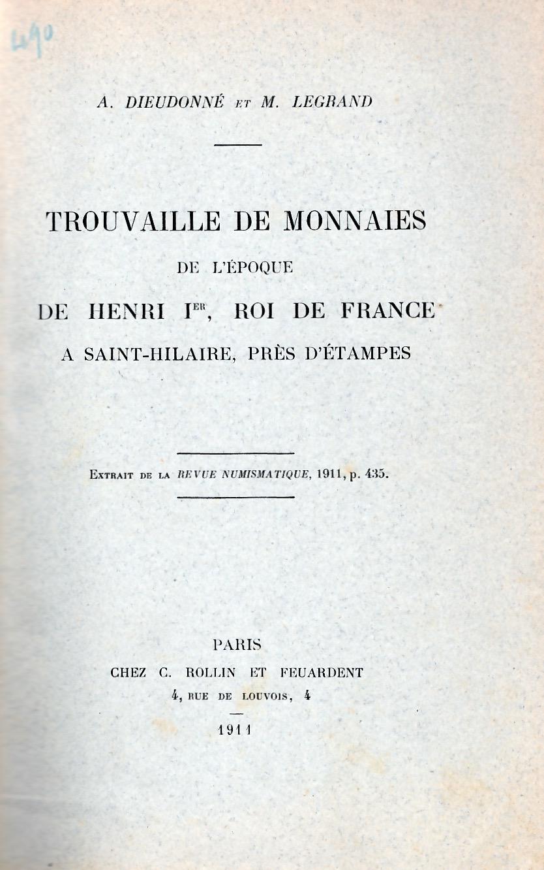 Trouvaille de monnaies à Saint-Hilaire